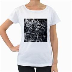 Vintage newspaper  Women s Loose-Fit T-Shirt (White)