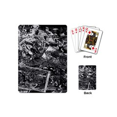 Vintage newspaper  Playing Cards (Mini)