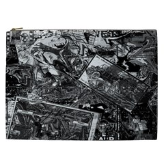 Vintage Newspaper  Cosmetic Bag (xxl)