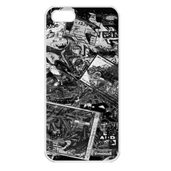 Vintage newspaper  Apple iPhone 5 Seamless Case (White)