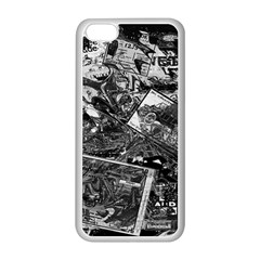 Vintage newspaper  Apple iPhone 5C Seamless Case (White)