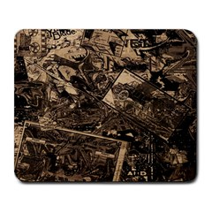 Vintage newspaper  Large Mousepads