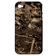 Vintage newspaper  Apple iPhone 4/4S Hardshell Case (PC+Silicone)