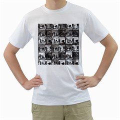 Comic book  Men s T-Shirt (White) (Two Sided)