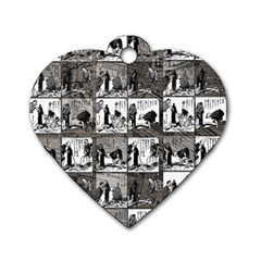 Comic book  Dog Tag Heart (One Side)