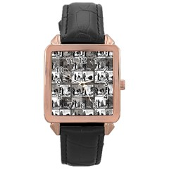 Comic book  Rose Gold Leather Watch