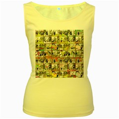 Comic book  Women s Yellow Tank Top