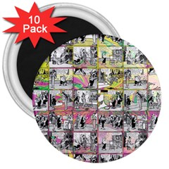 Comic book  3  Magnets (10 pack)