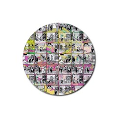 Comic Book  Rubber Round Coaster (4 Pack)