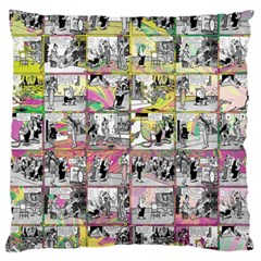Comic book  Large Cushion Case (One Side)