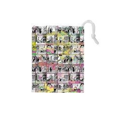 Comic book  Drawstring Pouches (Small)