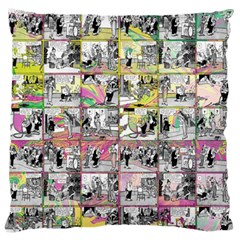 Comic book  Large Flano Cushion Case (Two Sides)