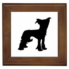 Chinese Crested Silo Black Framed Tiles