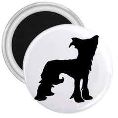 Chinese Crested Silo Black 3  Magnets
