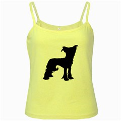 Chinese Crested Silo Black Yellow Spaghetti Tank