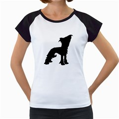 Chinese Crested Silo Black Women s Cap Sleeve T