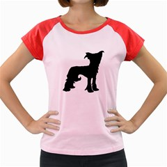Chinese Crested Silo Black Women s Cap Sleeve T-Shirt