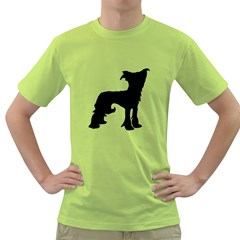 Chinese Crested Silo Black Green T-Shirt
