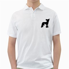 Chinese Crested Silo Black Golf Shirts