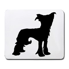 Chinese Crested Silo Black Large Mousepads