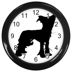 Chinese Crested Silo Black Wall Clocks (Black)