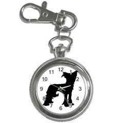 Chinese Crested Silo Black Key Chain Watches