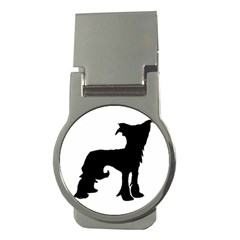 Chinese Crested Silo Black Money Clips (Round)