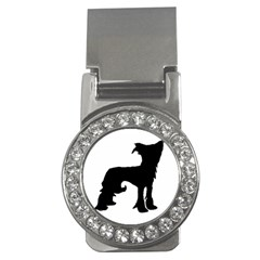 Chinese Crested Silo Black Money Clips (CZ)
