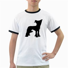 Chinese Crested Silo Black Ringer T-Shirts