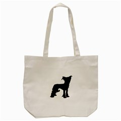 Chinese Crested Silo Black Tote Bag (Cream)