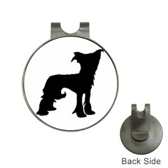 Chinese Crested Silo Black Hat Clips with Golf Markers