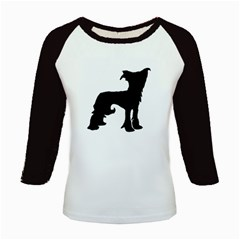 Chinese Crested Silo Black Kids Baseball Jerseys