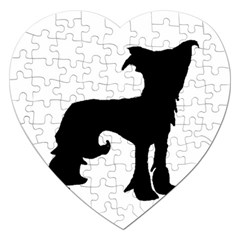 Chinese Crested Silo Black Jigsaw Puzzle (Heart)