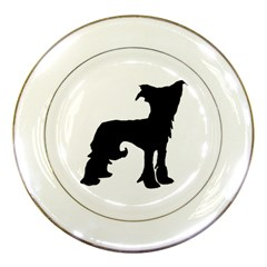 Chinese Crested Silo Black Porcelain Plates