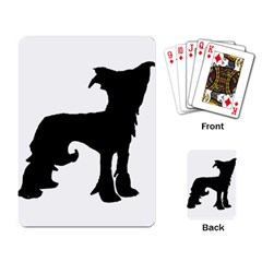 Chinese Crested Silo Black Playing Card