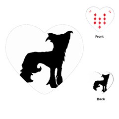 Chinese Crested Silo Black Playing Cards (Heart)