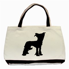 Chinese Crested Silo Black Basic Tote Bag