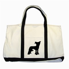 Chinese Crested Silo Black Two Tone Tote Bag