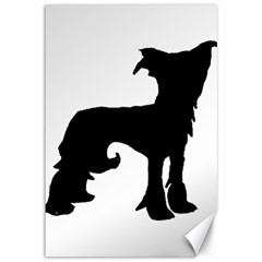 Chinese Crested Silo Black Canvas 12  x 18