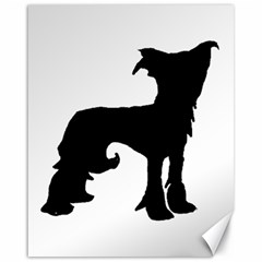 Chinese Crested Silo Black Canvas 16  x 20