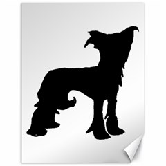 Chinese Crested Silo Black Canvas 18  x 24