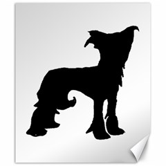 Chinese Crested Silo Black Canvas 20  x 24