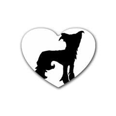 Chinese Crested Silo Black Heart Coaster (4 pack)