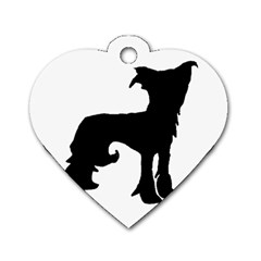 Chinese Crested Silo Black Dog Tag Heart (Two Sides)