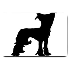 Chinese Crested Silo Black Large Doormat