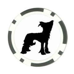 Chinese Crested Silo Black Poker Chip Card Guard
