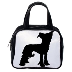 Chinese Crested Silo Black Classic Handbags (One Side)
