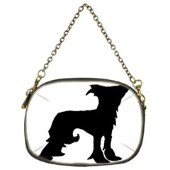 Chinese Crested Silo Black Chain Purses (One Side)