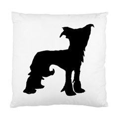 Chinese Crested Silo Black Standard Cushion Case (One Side)