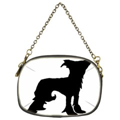 Chinese Crested Silo Black Chain Purses (Two Sides)